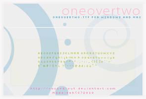 PixelFont: oneovertwo.ttf by oridzuru