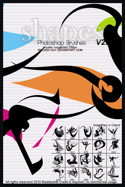 PS Brush-17 Color Shapes by oridzuru