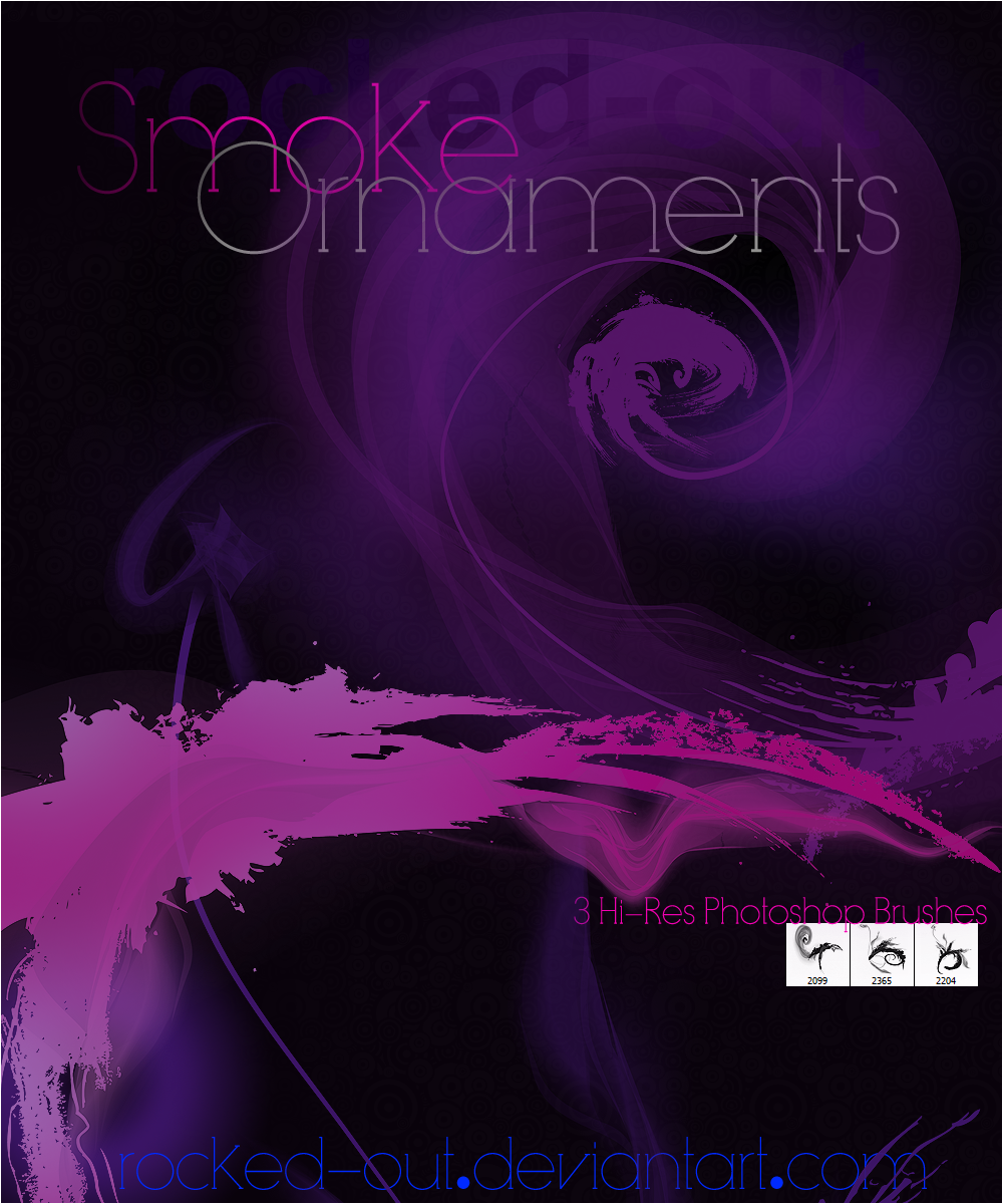 PS Brush-18 SmokeOrnaments by oridzuru