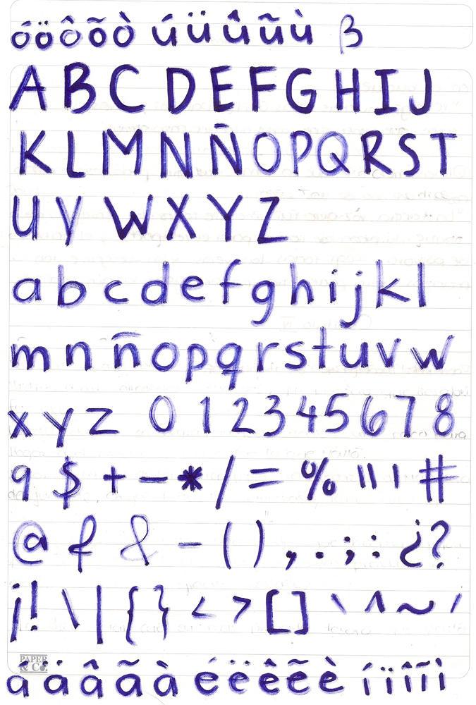 Old crayon - Tipografía manuscrita