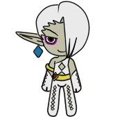 White Chocolate Ghirahim Flele Shell by the-keeper-of-bee2