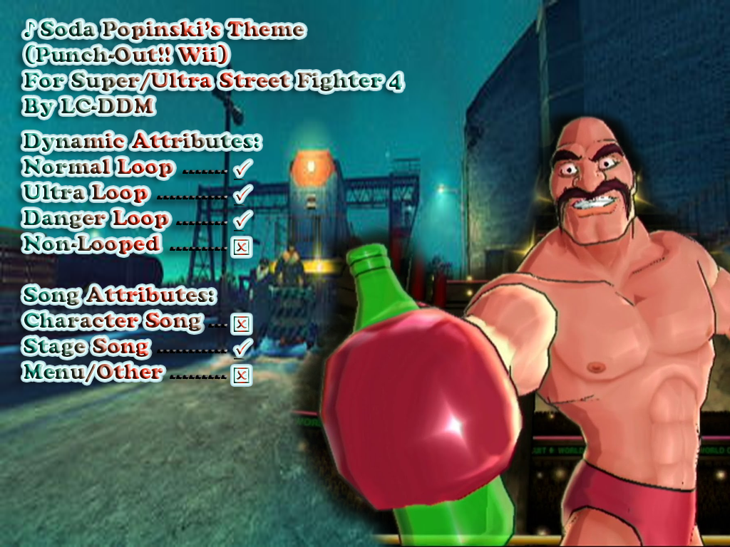Punch Out Wii Soda Popinski : Soda popinski s theme punch out wii for usf by lc