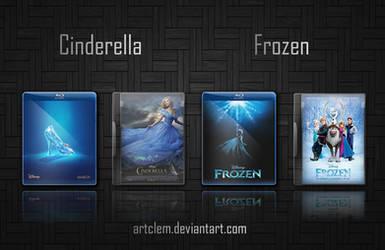 Cinderella (2015) - Frozen (2013) Folder Icons