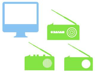 iMac and Radios by Ahuri