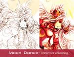 Moon dance-lineart