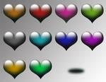 Glass hearts STOCK