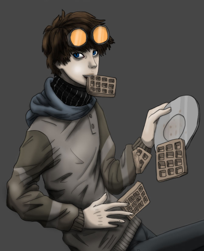 Merry x max waffle maker ticci toby x reader by shadowcakemaker