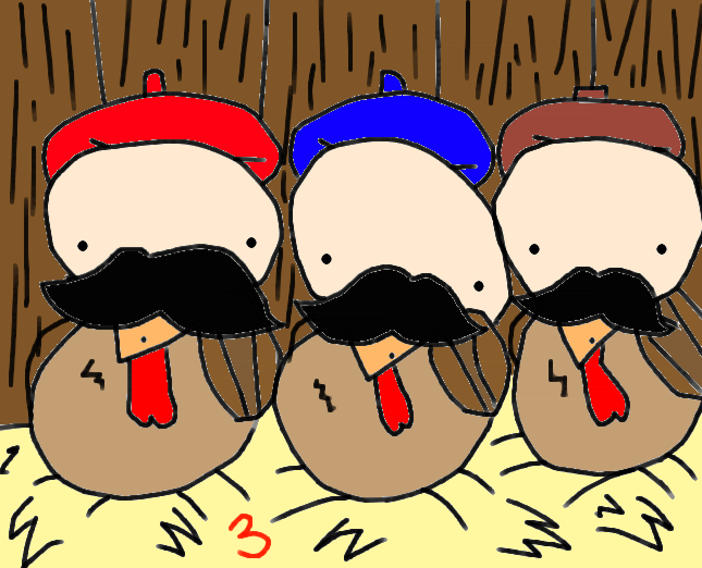 3rd Day of Christmas: 3 French Hens by SS4Benatar on DeviantArt