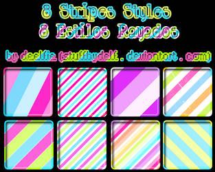 8 Styles stripes by StuffByDelf