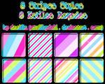 8 Styles stripes