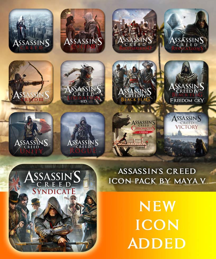 Assassin's Creed Icon Pack by maya-v on DeviantArt