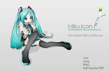 Miku icon. by idolls