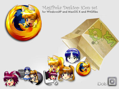 MagiPoka Desktop icon set. by idolls