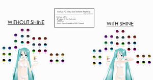 .:Texture DL:.Xoriu's PD Miku Eye Texture Replica