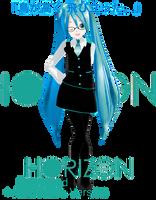 .:Model DL:. LAT Style HORIZON Miku by MMDAnimatio357