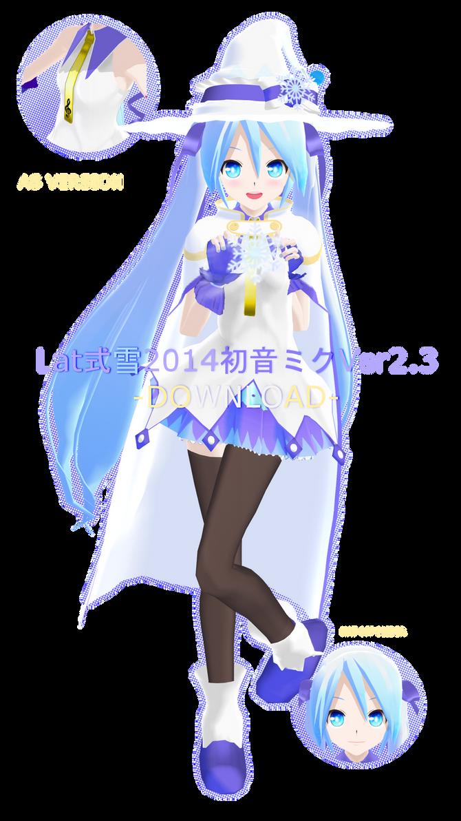 .:Model DL:. LAT Snow Miku 2014 by MMDAnimatio357