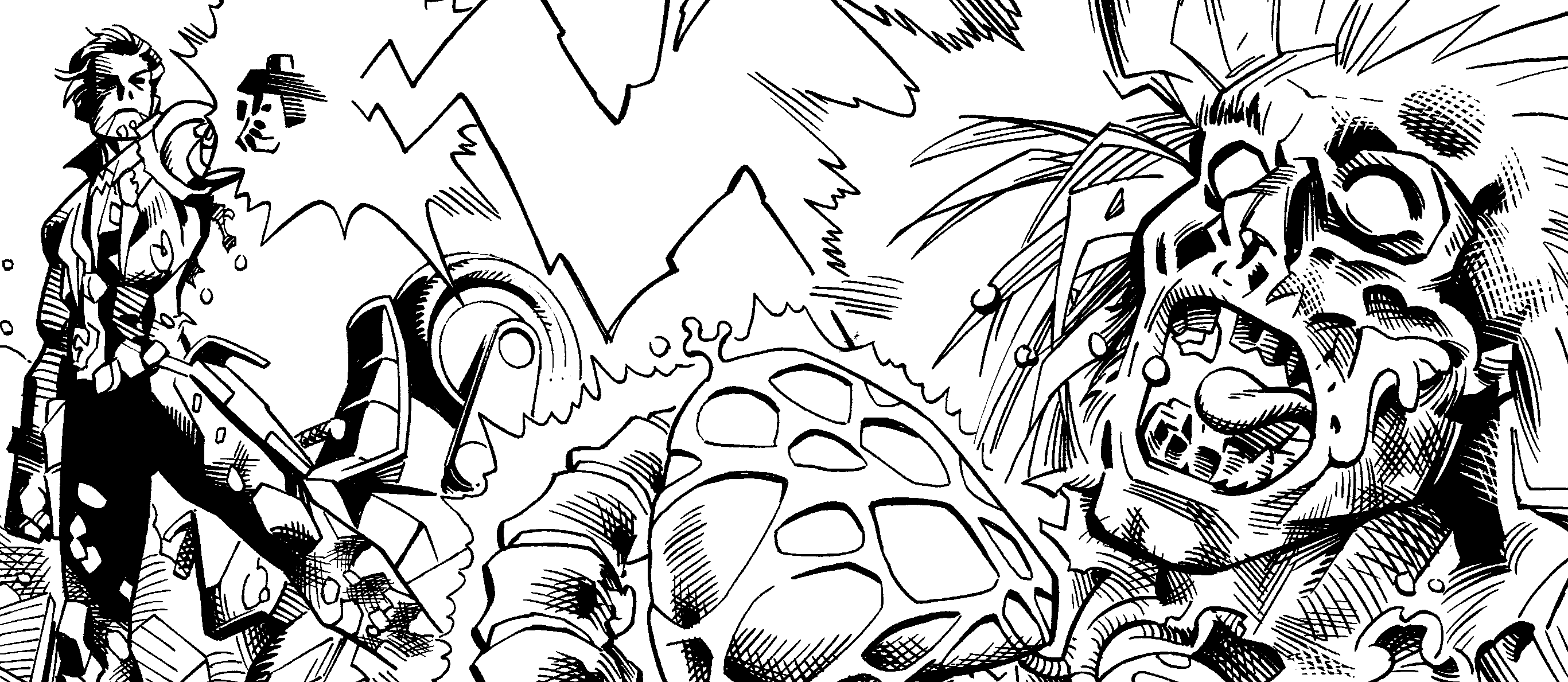 Inking Samples over Reilly Brown's Lobo Pencils by SteveBird