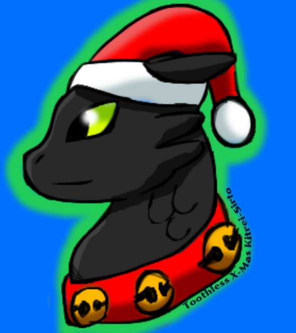 Toothless snoggletog by Kitrei-Sirto