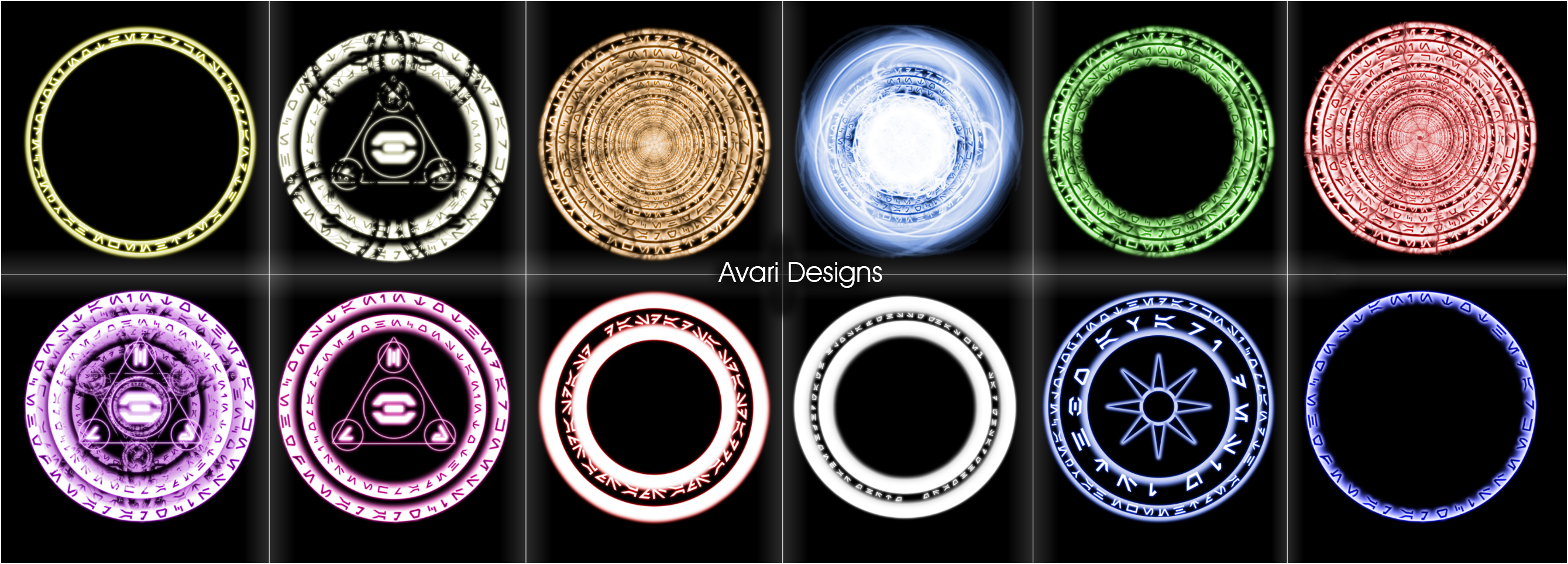 Arcane Circles Brush Pack By Nerfavari On Deviantart