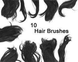 Photoshop Hair Brushes by Ishtuwazu