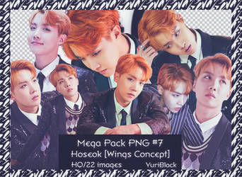 Mega Pack PNG #7 - JHope of BTS [Wings Concept]