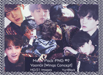 Mega Pack PNG #9 - Suga of BTS [Wings Concept] by YuriBlack