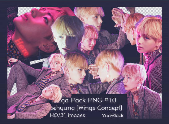 Mega Pack PNG #10 -  Taehyung BTS [Wings Concept]