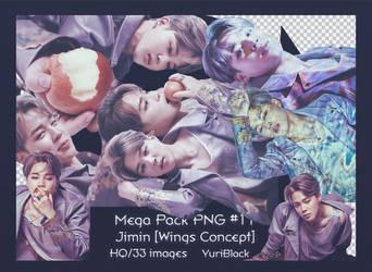 Mega Pack PNG #11 -  Jimin of BTS [Wings Concept]