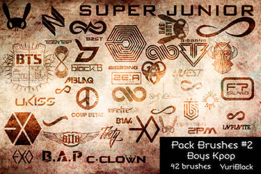 Pack Brushes #2 - Kpop Boys by YuriBlack