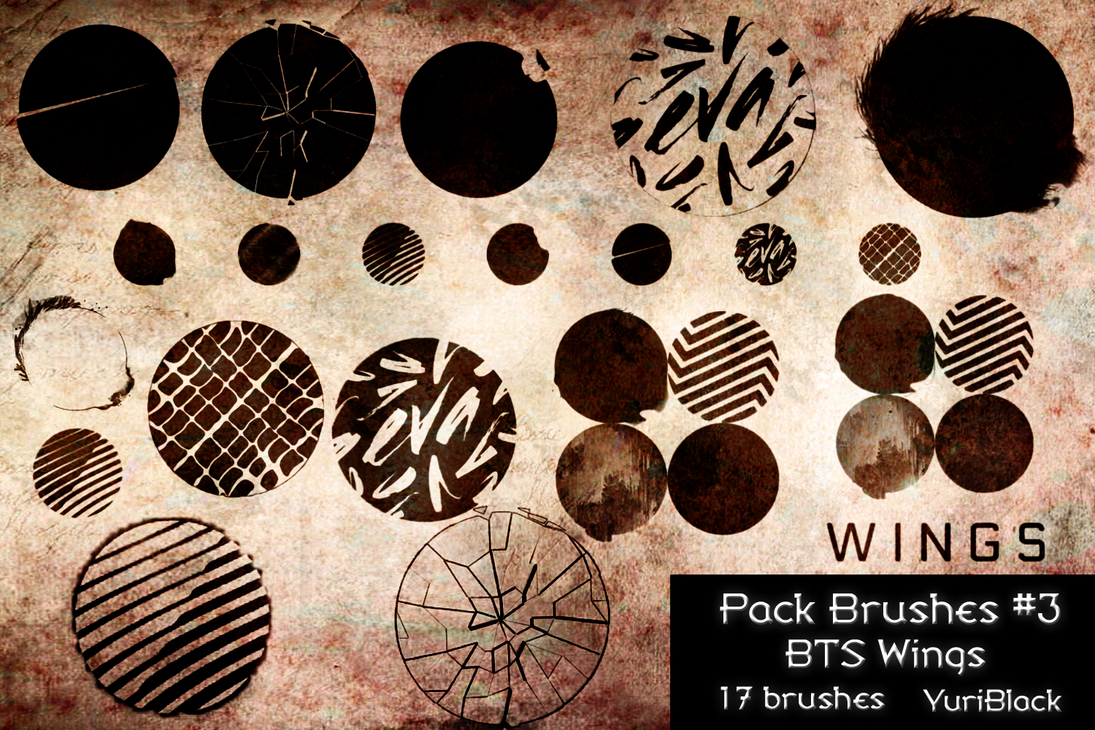 pack brushes 3 bts wings concept by yuriblack on deviantart