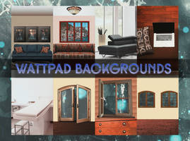 |SPECIAL WATCHERS| Wattpad Backgrounds Pack #1 by YuriBlack