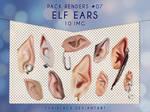 Render Pack #7 - Elf Ears I by YuriBlack