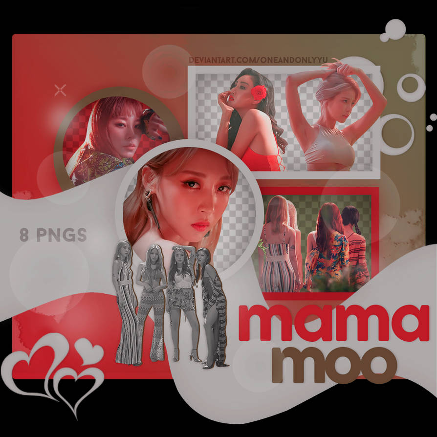 PNG PACK #05 | MAMAMOO - RED MOON PT 1 by oneandonlyyu on DeviantArt