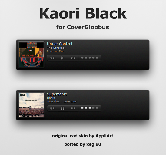Kaori Black for CoverGloobus by xegi90