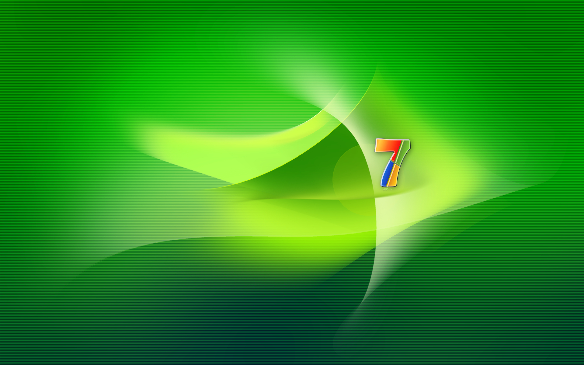 Windows 7 Seven Green by adni18