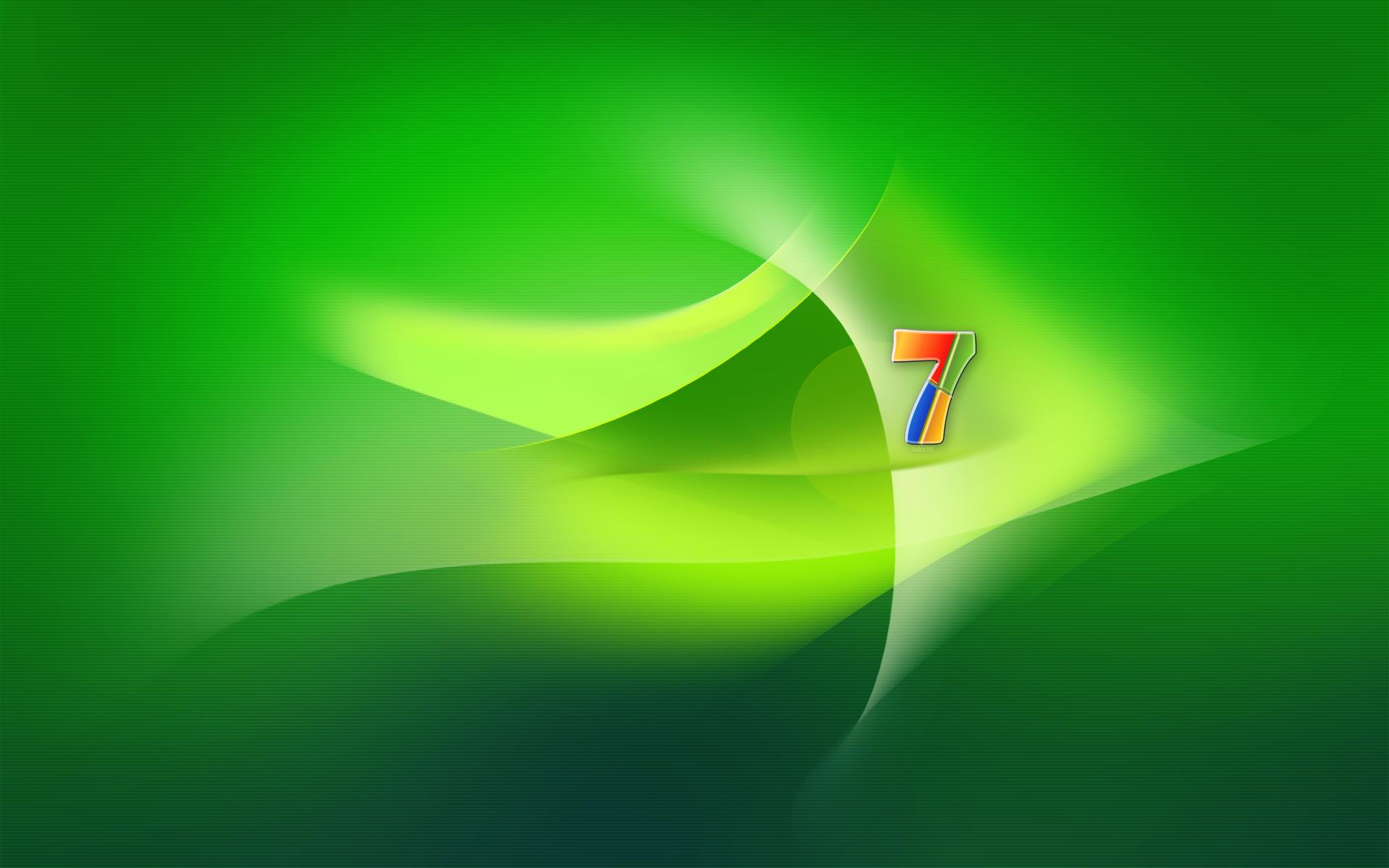 Windows 7 Seven Green by adni18