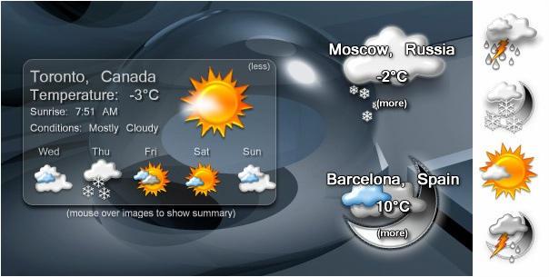 how to put weather widget on windows 10