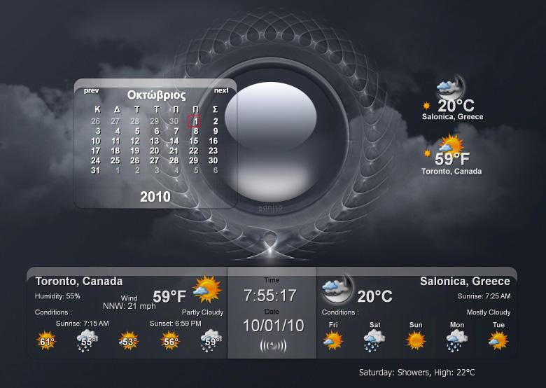 Часы погода и календарь на раб стол