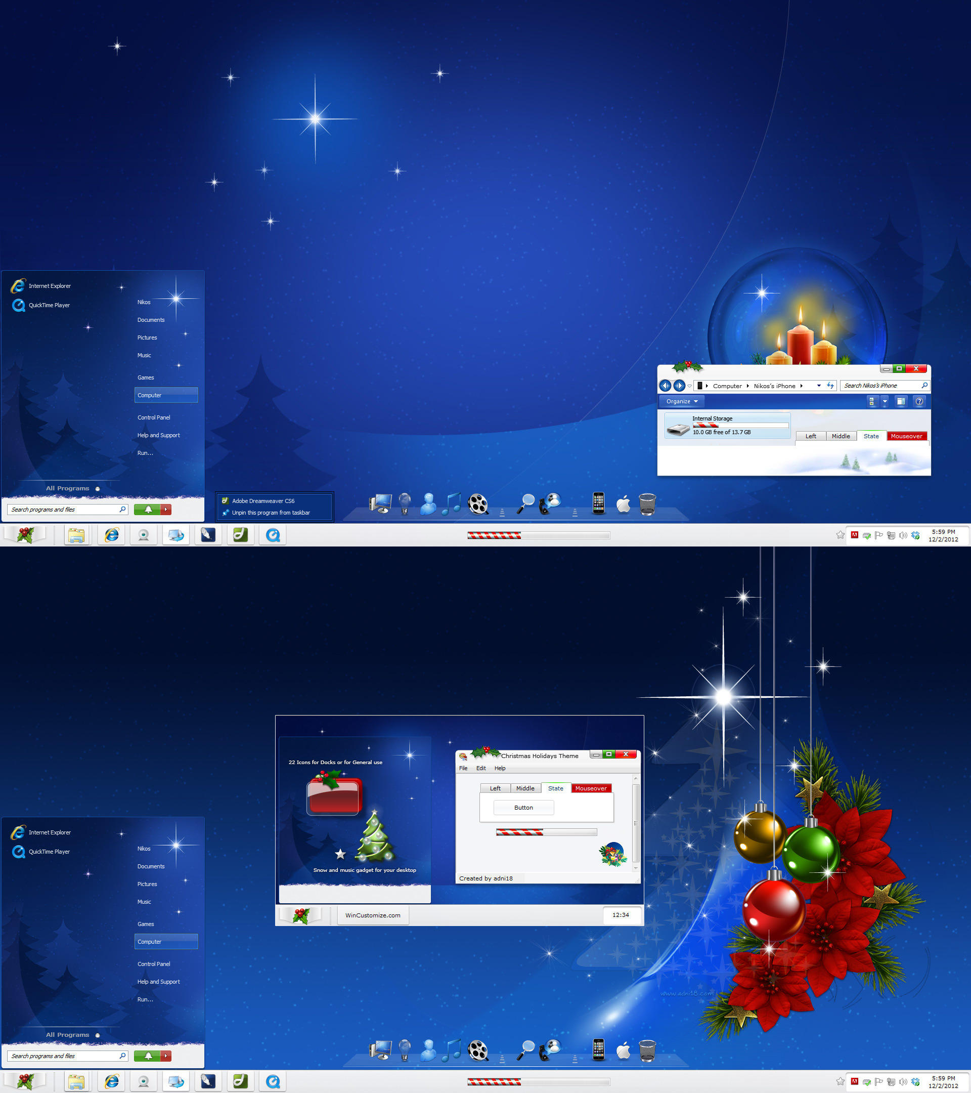 Christmas Holidays Theme by adni18