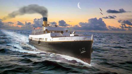 SS Nomadic at Sea