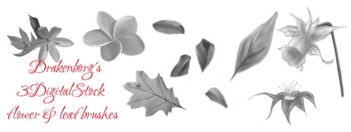 Flower and leaf brush pack