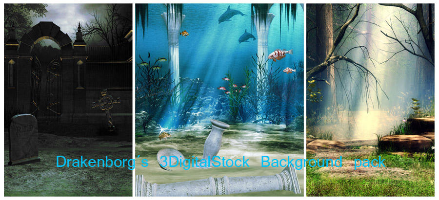 Background pack by 3DigitalStock