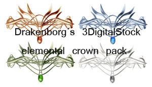 Elemental crown pack by 3DigitalStock