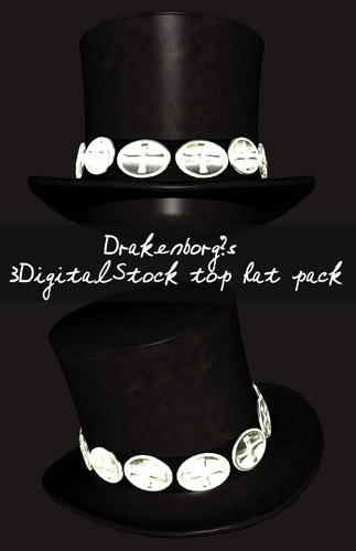 top hat pack by 3DigitalStock