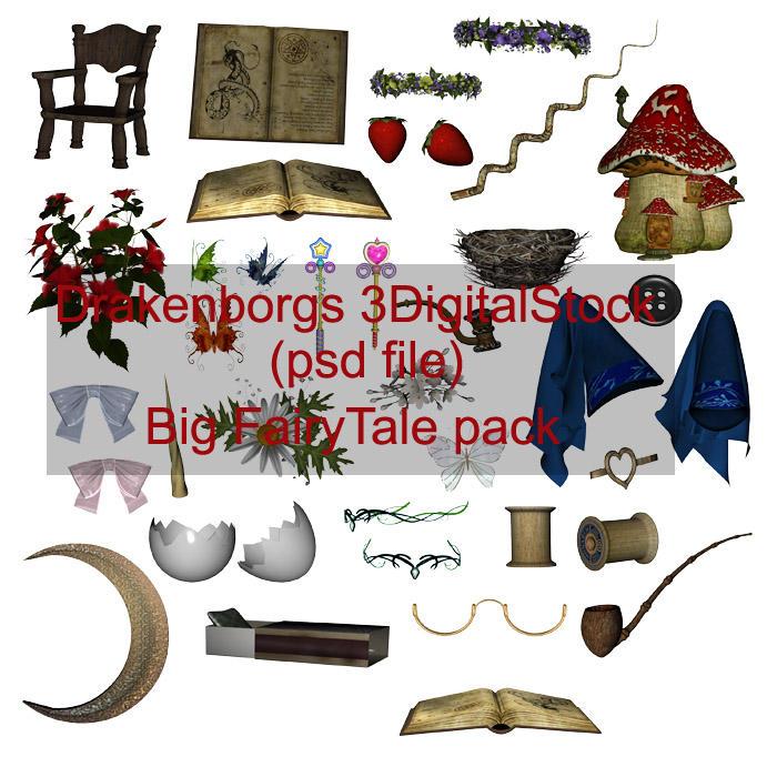 Fairy tale items by 3DigitalStock