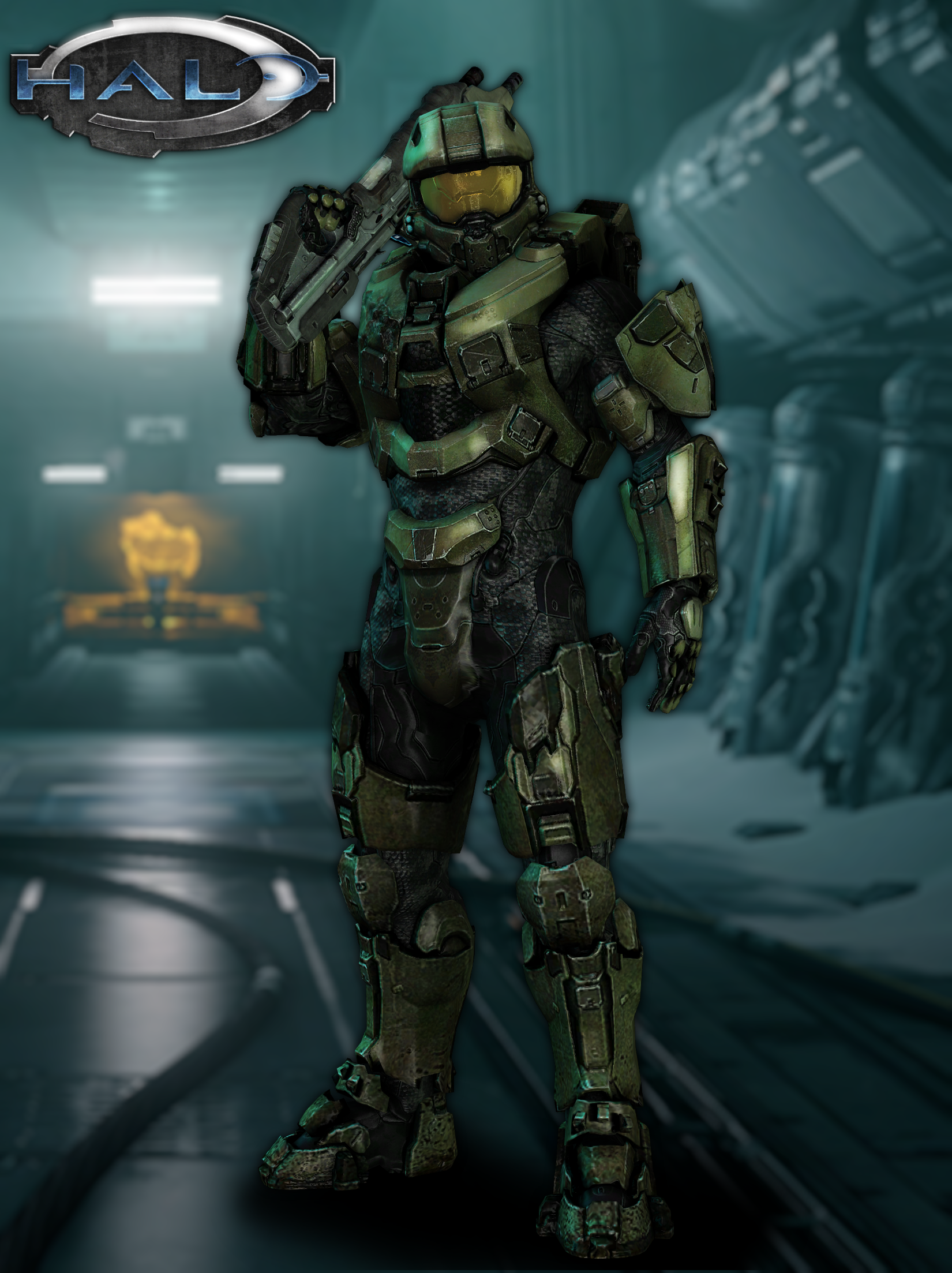 Master Chief Model - Halo 4 by LoneCarbineer on DeviantArt