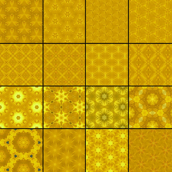 Gold Patterns for Photoshop by Studio64-Chicago