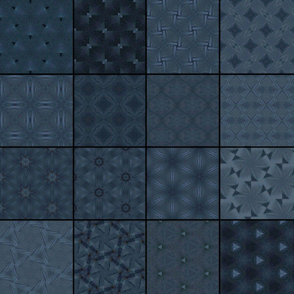 Dark Blue Patterns by Studio64-Chicago