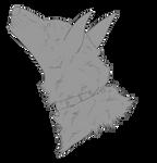 Free Wolf Head w/ Collar Lineart