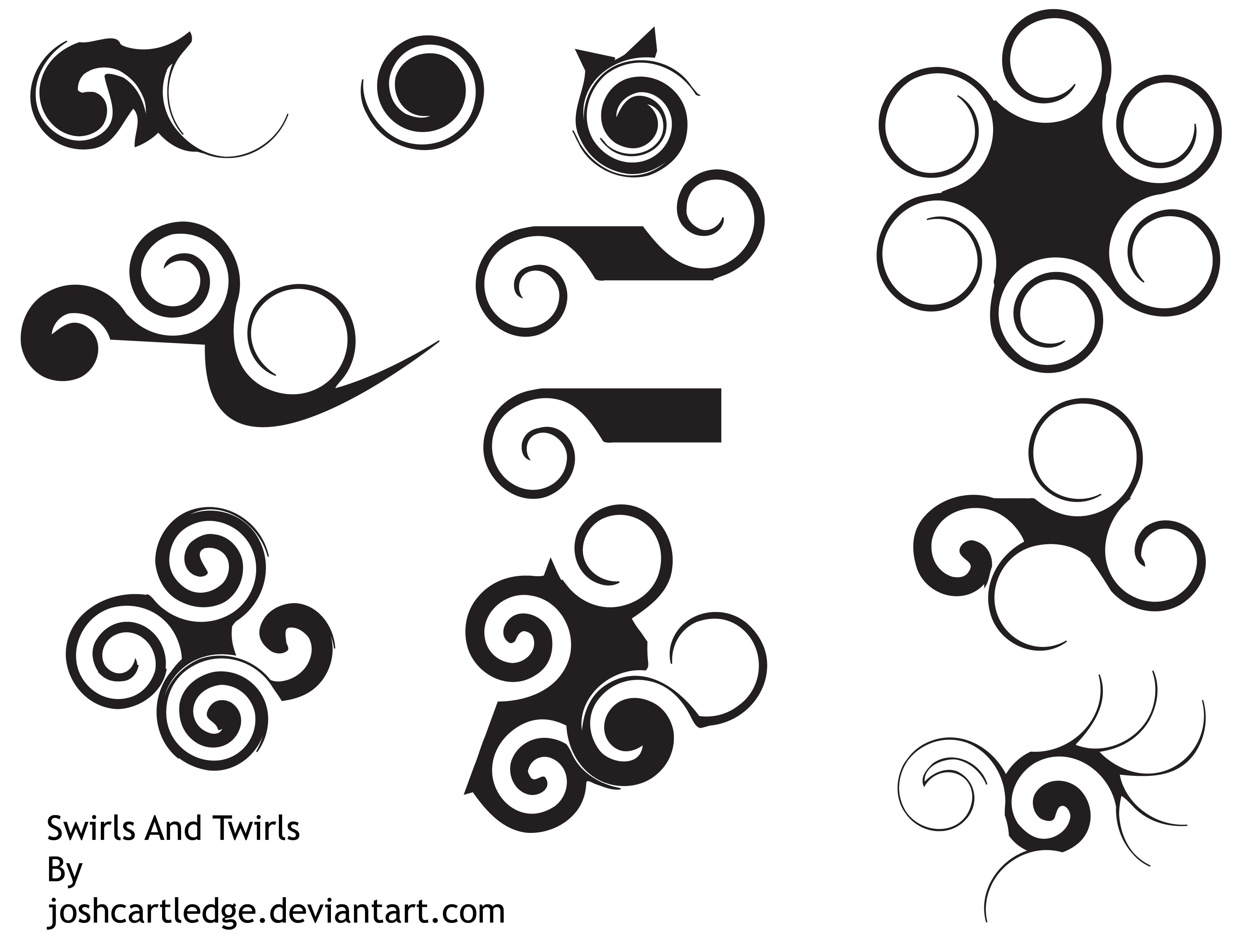 Swirls And Twirls Brushes by joshcartledge